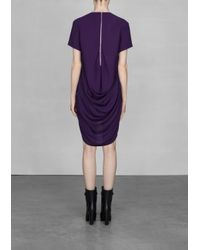 & Other Stories Purple Draped Dress