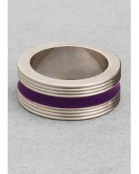 & Other Stories - Metallic Brass and Enamel Ring - Lyst