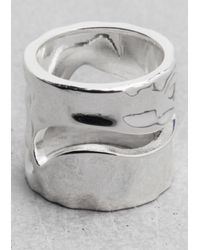 & Other Stories - Metallic Wave Ring - Lyst
