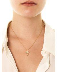 Aamaya By Priyanka - Metallic Palm Tree Goldplated Necklace - Lyst