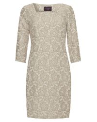 Allegra By Allegra Hicks Natural Floral Jacquard Dress