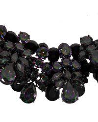 EK Thongprasert Black Washington Heights Silverplated Cubic Zirconia and Silicone Necklace