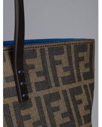 Fendi Brown Emblem Shopping Tote
