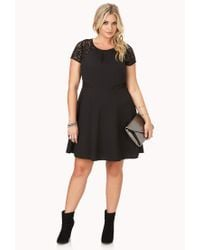 Forever 21 - Black Elegant Crochet Lace Dress - Lyst