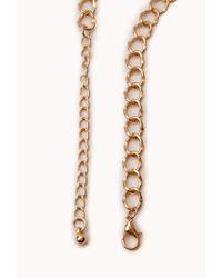 Forever 21 - Black Modernist Geo Pendant Necklace - Lyst