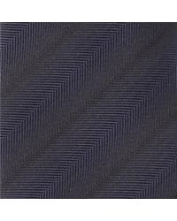 HUGO - Blue Herringbone Ombre Striped Silk Tie 6cm for Men - Lyst