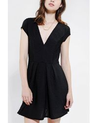 Urban Outfitters | Black Silence Noise Digital Jacquard Fit Flare Dress | Lyst
