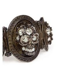 Alexander McQueen - Brown Stone Skull Bracelet - Lyst