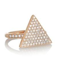 Anita Ko | Metallic Triangle 18karat Rose Gold Diamond Ring | Lyst