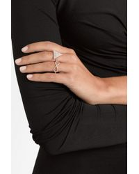 Anita Ko - Metallic Triangle 18karat Rose Gold Diamond Ring - Lyst