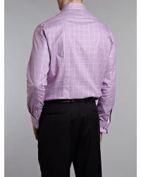 Arrow Pink Longsleeved Slim Fit Double Cuff Kent Shirt for men