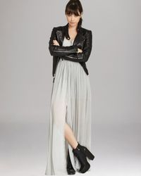 BCBGeneration Metallic Maxi Dress Cutout