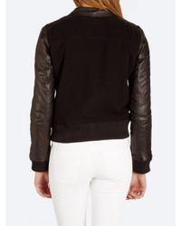 Current/Elliott Black The Varsity Jacket