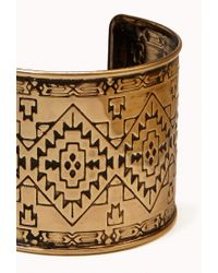 Forever 21 - Metallic Worldly Etched Cuff - Lyst