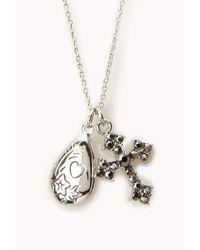 Forever 21 Metallic Boho Locket Necklace