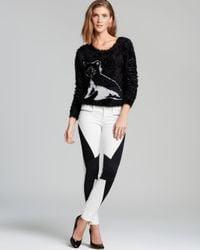 Guess Black Sweater Fuzz Intarsia