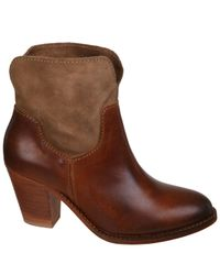 H by Hudson Brown Womens Brock Suede Heeled Cowboy Boots