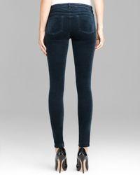 J Brand Green Jeans Luxe Velveteen 815 Mid Rise Super Skinny in Fraser