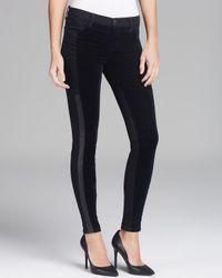 J Brand Black Jeans Aline Mid Rise Super Skinny in Hewson