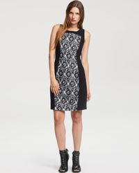 Kenneth Cole Black Lace Blocked Dress