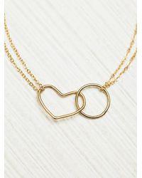 Free People - Metallic Making Shapes Bracelet - Lyst