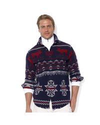 Ralph Lauren | Blue Longsleeve Jacquard Moose Workshirt for Men | Lyst