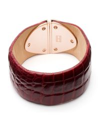 Tommy Hilfiger | Red Tommy Leather Bracelet | Lyst
