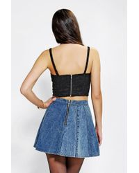 Urban Outfitters | Black Pins and Needles Bella Bustier Top | Lyst
