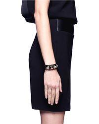 Valentino Multicolor Rockstud Large Leather Bracelet
