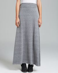 Alternative Apparel Gray Maxi Skirt Double Dare