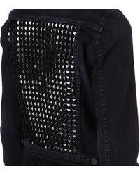 Citizens of Humanity Black Studded Denim Jacket