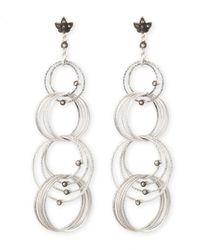 Coomi | Metallic Spring Silver Links Diamond Earrings | Lyst