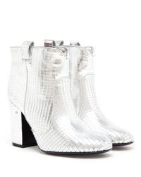 Laurence Dacade White Pete Metallic Leather Disco Boot