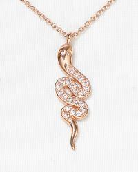 Rebecca Minkoff - Pink Pave Snake Necklace 16 - Lyst
