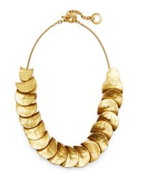 Robert Lee Morris - Metallic Gold-Plated Shingle Necklace - Lyst