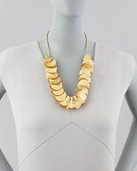 Robert Lee Morris Metallic Gold-Plated Shingle Necklace