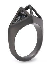 Sam Edelman - Metallic Open Cage Pave Ring - Lyst