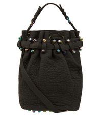 Alexander Wang Black Diego Bag with Iridescent Studs