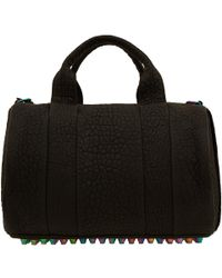 Alexander Wang Black Rocco Bag with Iridescent Studs