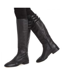 BCBGMAXAZRIA Black Central Leather Knee Boots