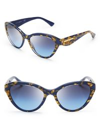 Dolce & Gabbana Metallic Dna Cat Eye Sunglasses
