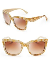 Dolce & Gabbana Brown Dna Wayfarer Sunglasses