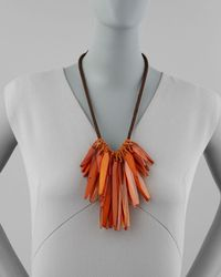 Donna Karan - Orange Small Cluster Necklace  - Lyst