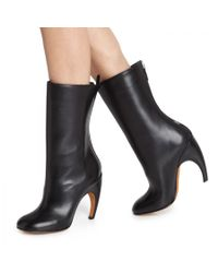 Givenchy Black Curved Leather Boots