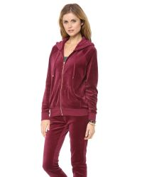Juicy Couture Red Relaxed Hoodie
