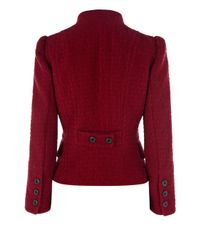 Karen Millen Red Jacquard Jacket