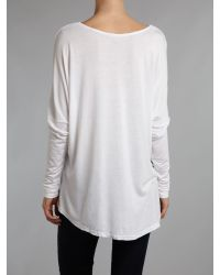 Label Lab White Slouch Pocket Tee