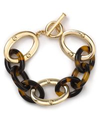 Lauren by Ralph Lauren Metallic Tortoise Treasure Link Bracelet
