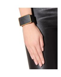 Marni - Gray Leather Cuff Bracelet - Lyst