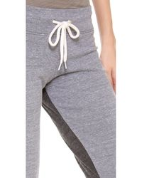 Monrow Gray Half Half Sweatpants